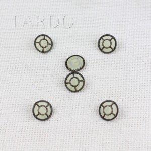 Пуговица герб-лев металл никель матовый ∅ 1,6 см