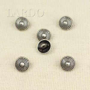 Пуговица металл никель стразы ∅ 1,5 см