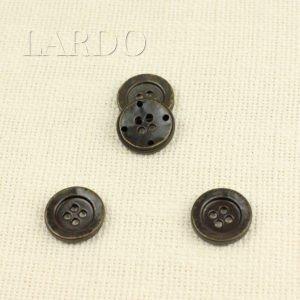 Пуговица металл тёмный никель ∅ 1,2 см