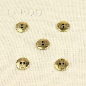 Пуговица металл ∅ 1,8 см золото чернёное