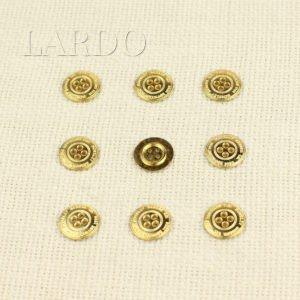 Пуговица металл золото ∅ 1,6 см