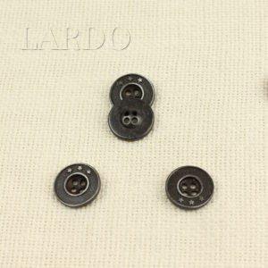 Пуговица металл ∅ 1,2 см тёмный никель