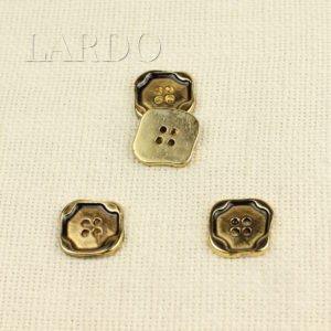 Пуговица металл золото чернёное квадрат 2,0 см х 2,0 см