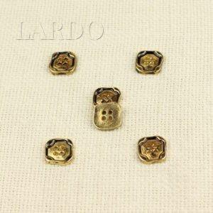 Пуговица металл золото чернёное квадрат 1,5 см х 1,5 см