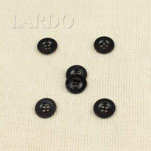 Пуговица металл тёмный никель ∅ 1,6 см