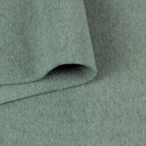 Велюр шерстяной пальтовый мятный