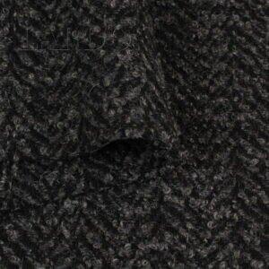 Твид буклированный пальтовый серый в ёлочку