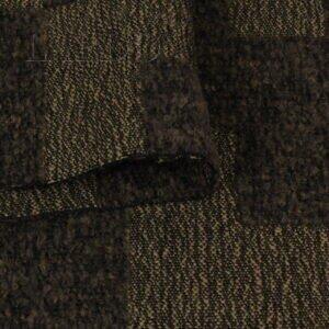Шерсть пальтовая коричневая геометрия