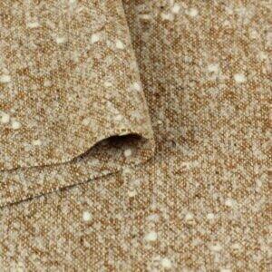 Твид пальтовый шерсть рыже-коричневый