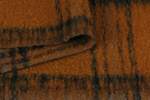 Пальтовая шерсть с ворсом в клетку
