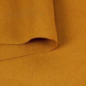 Фланель пальтово-костюмная шерсть оранжевая