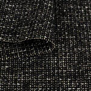 Пальтовая ткань чёрный меланж Италия Состав: хлопок 43 %, шерсть 29 %, синтетические волокна 28 %  Плотность ≈ 440 г/м ² Ширина 150 см