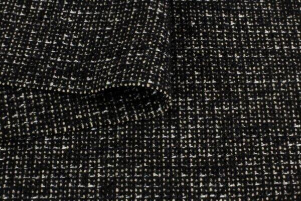 Костюмно-пальтовая чёрный меланж