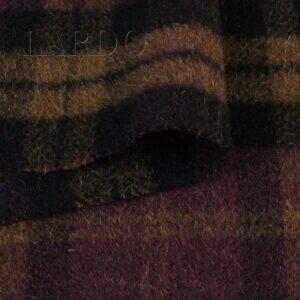 Пальтовая в клетку бордово-коричневую