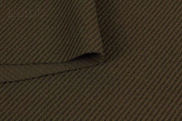 Шерсть пальтовая диагональ коричневая