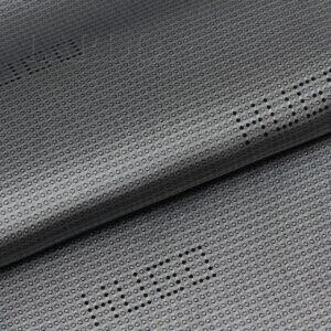 Подкладочная ткань вискоза серая, жаккард логотип HUGO