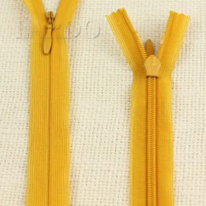 Молния ПОТАЙНАЯ YKK неразъёмная, однозамковая, 55 см, №3, жёлтая