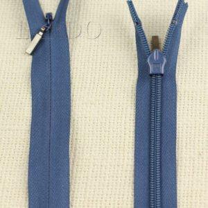 Молния ПОТАЙНАЯ YKK неразъёмная, однозамковая, 55 см, №3, синяя