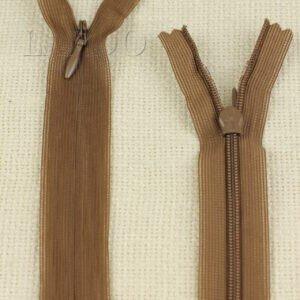 Молния ПОТАЙНАЯ MZ неразъёмная, однозамковая, 40 см, №3, светло-коричневая