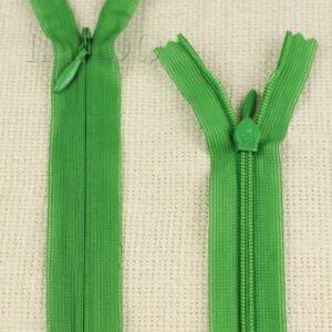Молния ПОТАЙНАЯ ST неразъёмная, однозамковая, 40 см, №3, зелёная