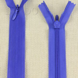 Молния ПОТАЙНАЯ UNIZIP неразъёмная, однозамковая, 40 см, №3, синяя