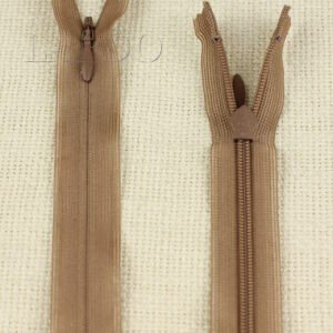 Молния ПОТАЙНАЯ MZ неразъёмная, однозамковая, 40 см, №3, коричневая