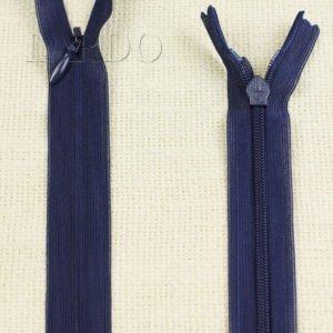 Молния ПОТАЙНАЯ UNIZIP неразъёмная, однозамковая, 50 см, №3, тёмно-синяя