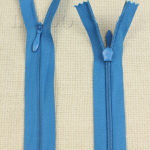 Молния ПОТАЙНАЯ OPTI неразъёмная, однозамковая, 50 см, №3, синяя