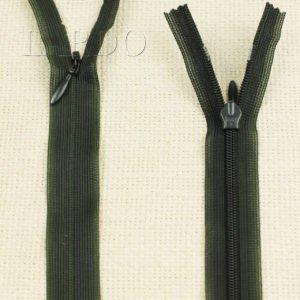 Молния ПОТАЙНАЯ YKK неразъёмная, однозамковая, 50 см, №3, тёмно-зелёная