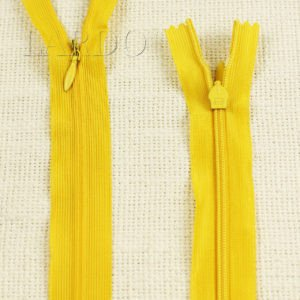 Молния ПОТАЙНАЯ RTC неразъёмная, однозамковая, 50 см, №3, жёлтая