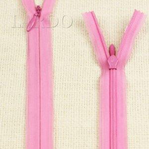 Молния ПОТАЙНАЯ YKK неразъёмная, однозамковая, 50 см, №3, розовая