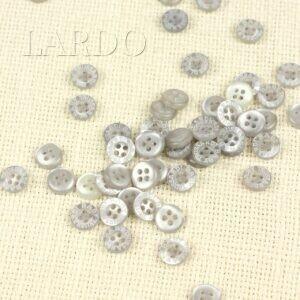 Пуговица TRUSSARDI BABY пластик ∅ 1,0 см, светло-серая