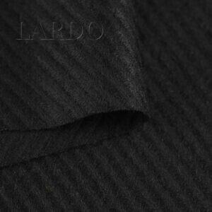 Шерсть костюмная чёрная диагональная полоска