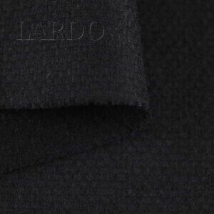Шерсть костюмно-пальтовая чёрная рогожка