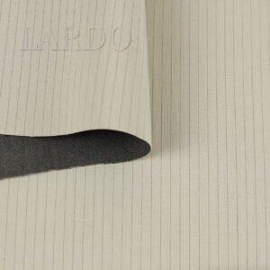 Костюмная ткань стретч двухслойная в полоску хлопок с шёлком