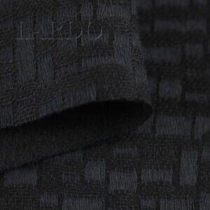 Шерсть жаккард костюмная чёрная