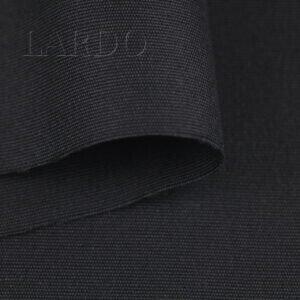 Шерсть костюмная чёрная в рубчик