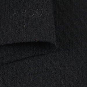 Шерсть пальтовая чёрная зернистая