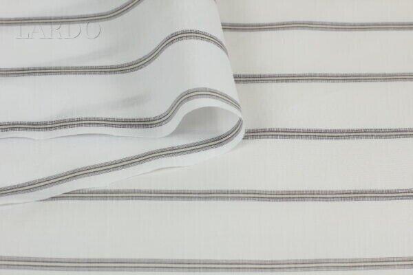 Рубашечная ткань в серо-коричневую (тауп) полоску