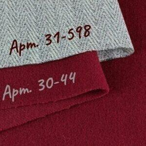 077 пальтовая шерсть с кашемиром бордовый терракот/шерсть костюмно-плательная серая в ёлочку
