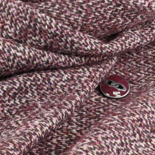 078 пальтовая ёлочка меланж марсала/подкладка вискоза марсала