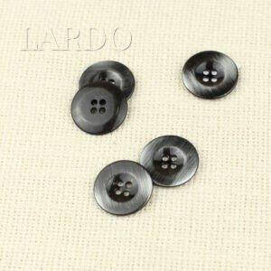 Пуговица металл ∅ 2,3 см, чёрная