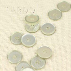 Пуговица пластик ∅ 2,4 см, молочная матовая