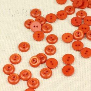 Пуговица пластик ∅ 1,5 см, оранжевая