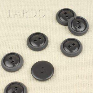 Пуговица пластик ∅ 2,8 см, тёмно-серая