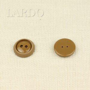 Пуговица пластик ∅ 2,8 см, светло-коричневая