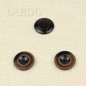Пуговица пластик ∅ 2,8 см, коричневая