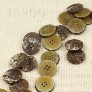 Пуговица пластик ∅ 2,2 см, коричневая