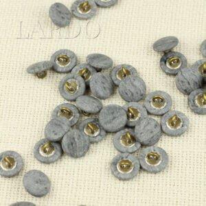 Пуговица пластик ∅ 1,5 см, тёмно-серая перламутровая