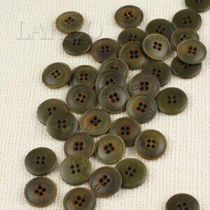 Пуговица MAEVA пластик ∅ 2,2 см, зелёная перламутровая